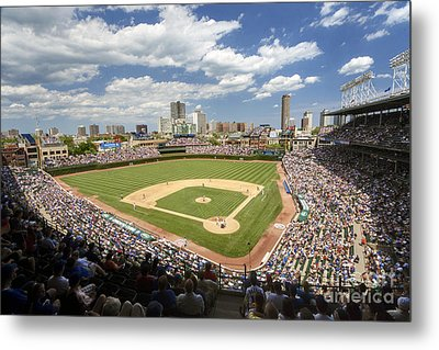 0415 Wrigley Field Chicago Metal Print by Steve Sturgill