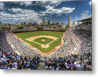 0443 Wrigley Field Chicago  Metal Print by Steve Sturgill