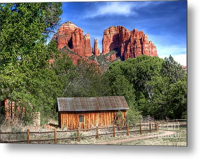 0682 Red Rock Crossing - Sedona Arizona Metal Print by Steve Sturgill