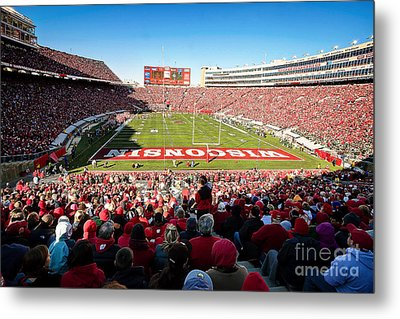 0814 Camp Randall Stadium Metal Print by Steve Sturgill