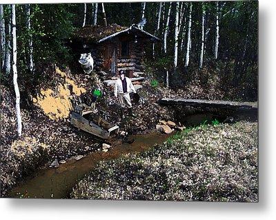 090814 Alaskan Gold Miner Metal Print by Garland Oldham