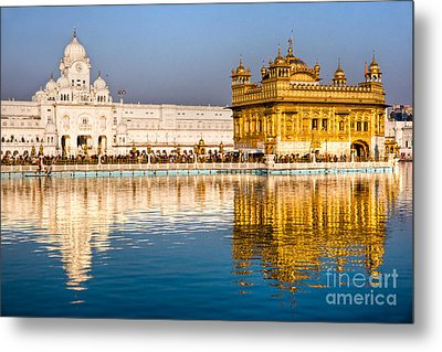Golden Temple In Amritsar - Punjab - India Metal Print by Luciano Mortula
