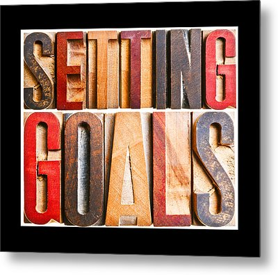 Setting Goals Metal Print