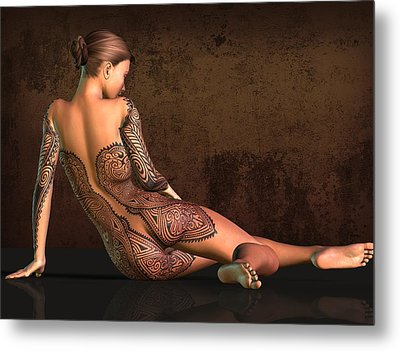 Tattooed Nude 4 Metal Print by Kaylee Mason