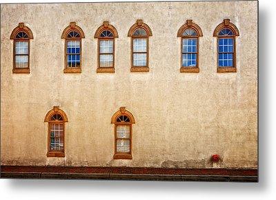 Office Windows Overlooking Side Street Metal Print by Frank J Benz
