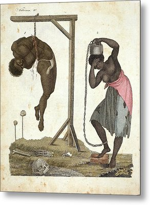 1810 Punishment Of Slaves Engraving Metal Print by Paul D Stewart