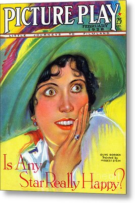 1920s Usa Picture Play Magazine Cover Metal Print by The Advertising Archives