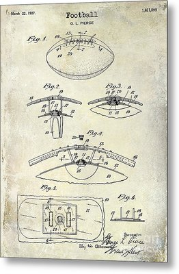 1927 Football Patent Drawing  Metal Print