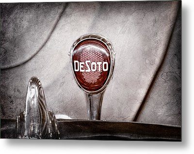 1934 Desoto Airflow Coupe Taillight Emblem Metal Print by Jill Reger