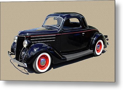 1936 Ford 3 Window Coupe Metal Print by Jack Pumphrey