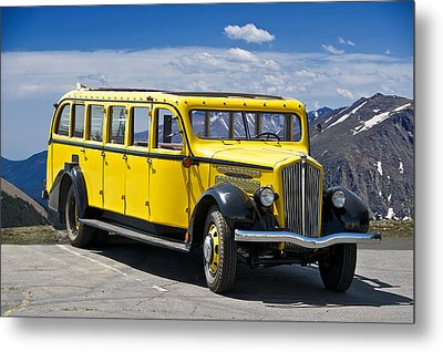 1937 Whites Touring Bus Metal Print by Dave Koontz