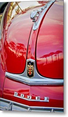 1948 Dodge Ram Hood Ornament Metal Print by Jill Reger