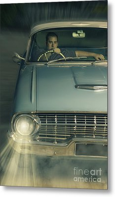1950 Era American Car Culture  Metal Print by Jorgo Photography - Wall Art Gallery