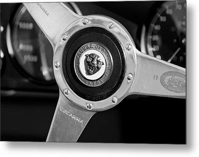 1951 Jaguar Steering Wheel Emblem Metal Print by Jill Reger