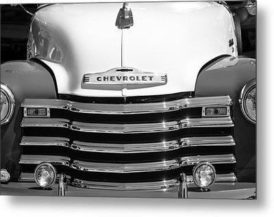 1952 Chevrolet Pickup Truck Grille Emblem Metal Print by Jill Reger