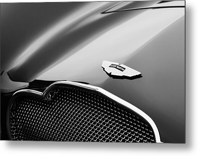 1953 Aston Martin Db2-4 Bertone Roadster Hood Emblem Metal Print by Jill Reger