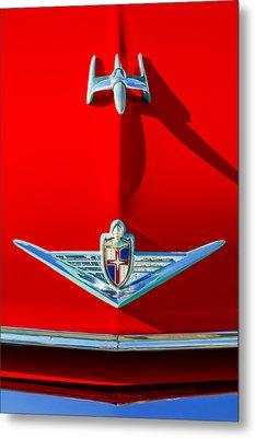 1954 Lincoln Capri Hood Ornament Metal Print by Jill Reger