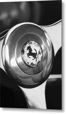 1955 Ferrari 250 Europa Gt Pinin Farina Berlinetta Steering Wheel Emblem Metal Print by Jill Reger
