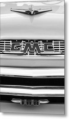 1956 Gmc 100 Deluxe Edition Pickup Truck Metal Print