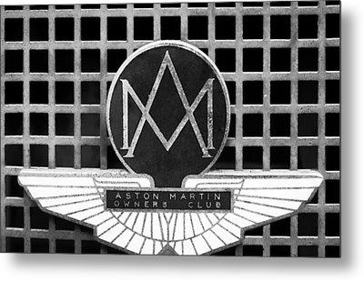 1957 Aston Martin Owner's Club Emblem Metal Print
