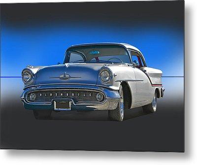 1957 Custom Oldsmobile Metal Print by Dave Koontz