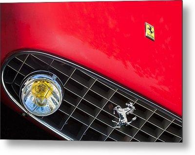 1957 Ferrari 410 Superamerica Series II Grille Emblem Metal Print by Jill Reger