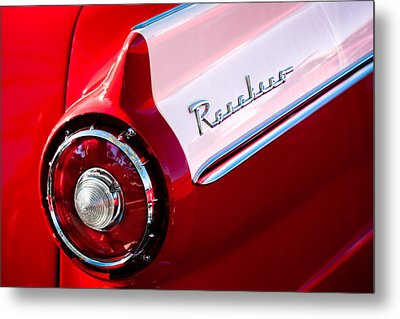 1957 Ford Custom 300 Series Ranchero Taillight Emblem Metal Print