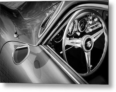 1957 Porsche Steering Wheel Metal Print by Jill Reger