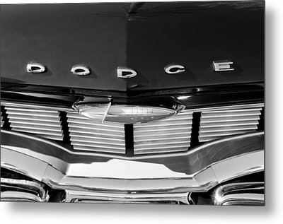 1960 Dodge Grille Emblem Metal Print by Jill Reger