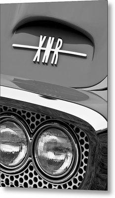 1960 Plymouth Xnr Ghia Roadster Grille Emblem Metal Print by Jill Reger