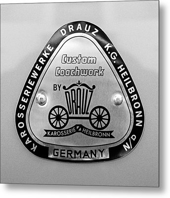 1960 Porsche 356 B 1600 Super Roadster Emblem Metal Print by Jill Reger