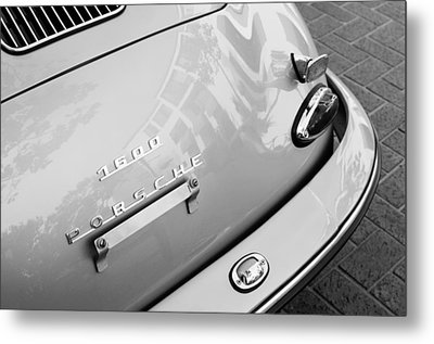1960 Porsche 356 B 1600 Super Roadster Rear Emblem - Taillight Metal Print by Jill Reger