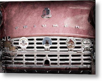 1960 Triumph Tr3 Grille Emblems Metal Print by Jill Reger