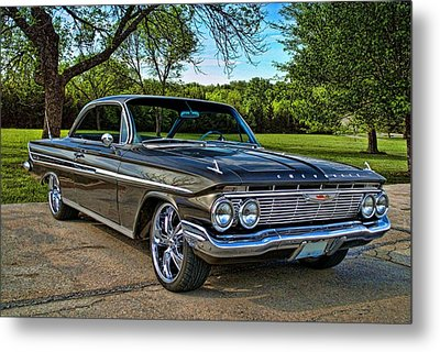 Metal Print featuring the photograph 1961 Chevrolet Impala by Tim McCullough