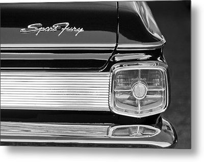 1963 Plymouth Sport Fury Taillight Emblem Metal Print by Jill Reger