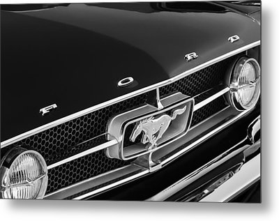 1965 Ford Mustang Grille Emblem Metal Print