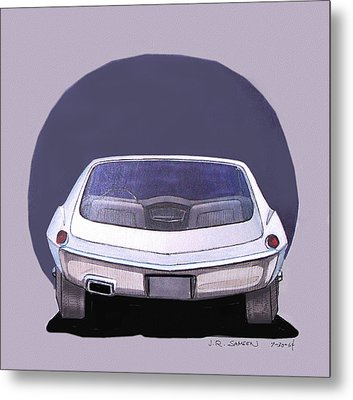 1967 Barracuda  Plymouth Vintage Styling Design Concept Rendering Sketch Metal Print by John Samsen