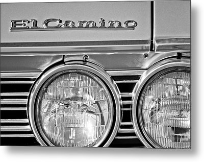 1967 Chevrolet El Camino Pickup Truck Headlight Emblem Metal Print by Jill Reger