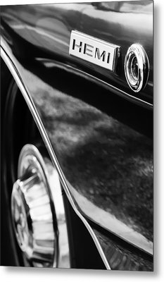 1968 Dodge Charger Rt Coupe 426 Hemi Upgrade Emblem Metal Print by Jill Reger