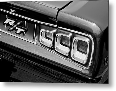 1968 Dodge Coronet Rt Hemi Convertible Taillight Emblem Metal Print by Jill Reger
