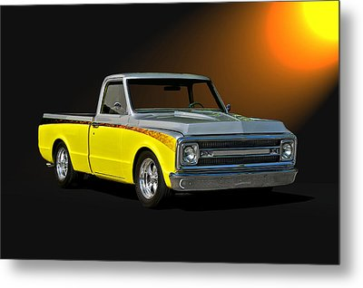 1969 Chevrolet C10 Pick Up Metal Print by Dave Koontz