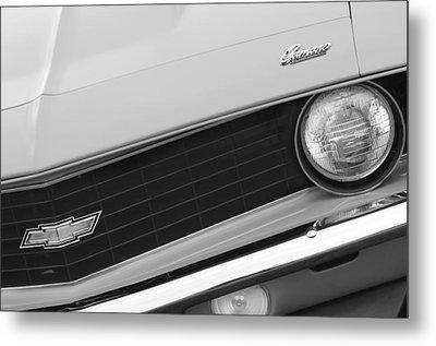 1969 Chevrolet Camaro Copo Replica Grille Emblems Metal Print by Jill Reger