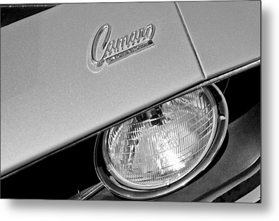 1969 Chevrolet Camaro Headlight Emblem Metal Print by Jill Reger