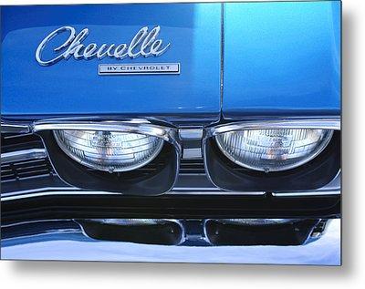 1969 Chevrolet Chevelle Emblem Metal Print by Jill Reger