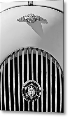 1969 Morgan Roadster Grille Emblems Metal Print by Jill Reger