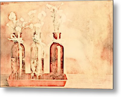 1-2-3 Bottles - R9t2b Metal Print by Variance Collections
