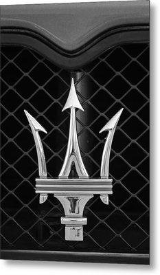 2005 Maserati Gt Coupe Corsa Emblem Metal Print by Jill Reger
