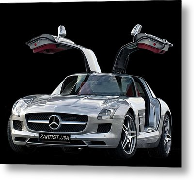 2010 Mercedes Benz Sls Gull-wing Metal Print