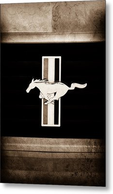 2012 Ford Mustang Boss 302 Emblem Metal Print by Jill Reger