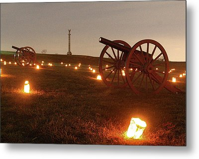 Metal Print featuring the photograph 2013 Antietam - Cannon by Judi Quelland